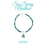 Beautiful necklace using blue stones
