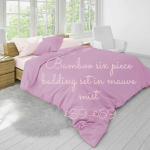 bamboo bedding in mauve