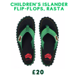 island flip flops rasta design