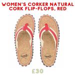 gumbies flip flops made from cork for ladies