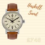 a delightful watch in beige