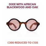 Glasses in African Blackwood and oak
