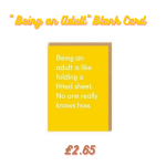 Being an adult greetings card