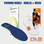Bundle of socks and insoles