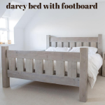 beautiful bed with footboard